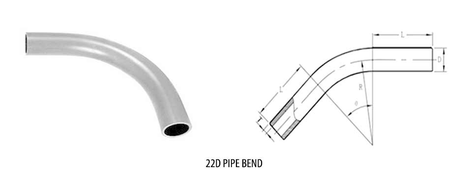 Stainless Steel 22D Bends Sizes